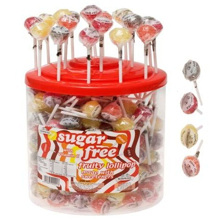 200 x Sugar Free Fruity Lolly Vitamin C - Simpkins Sweets Lollies ...