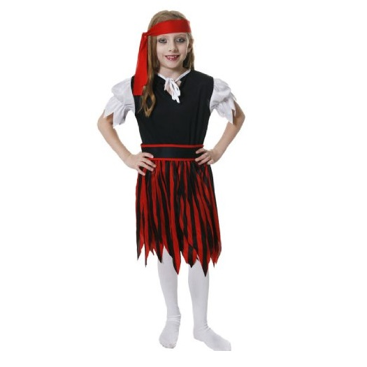 Age 4 6 small girls childs pirate fancy dress costume