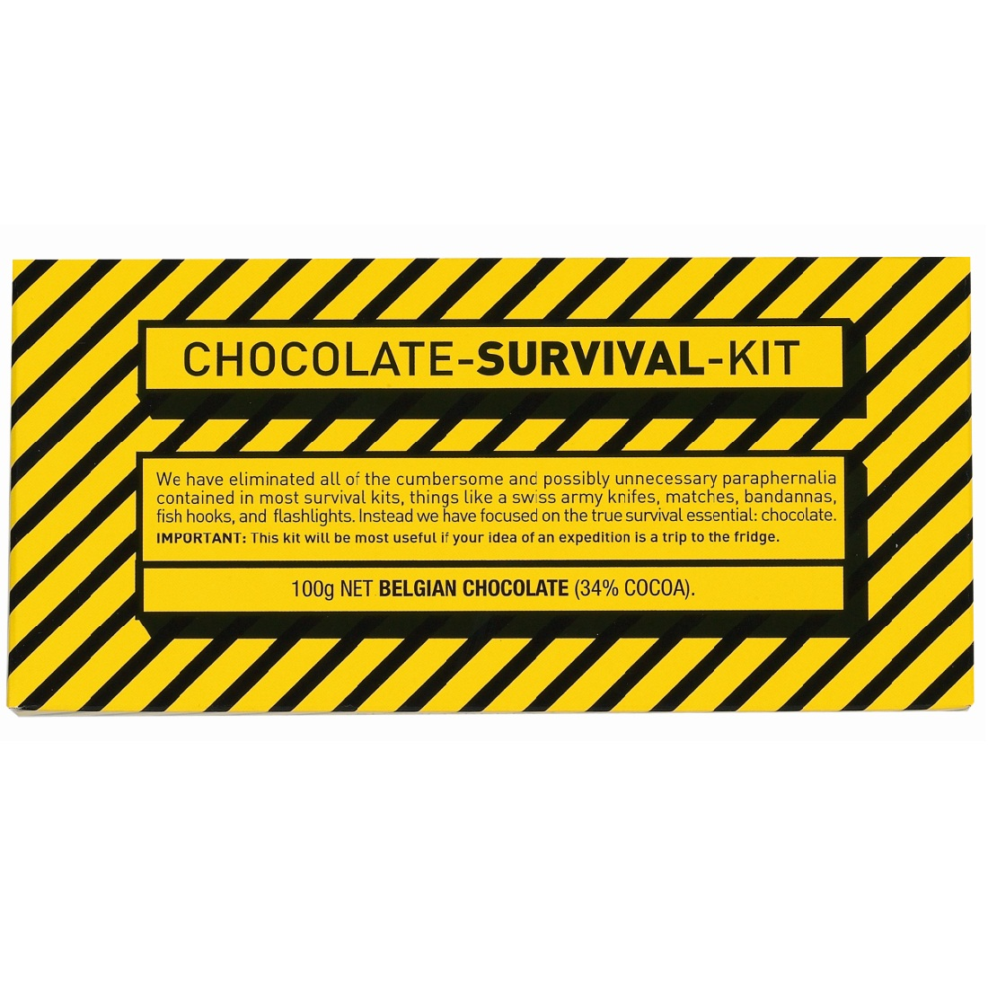 Chocolate Survival Kit - Milk Belgian Chocolate Bar Bloomsberry & Co ...