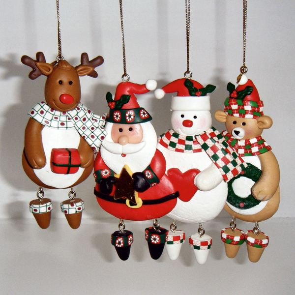 Figures christmas tree ornaments handmade xmas Unique christmas decorations uk