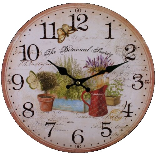 Garden 75711 Large Rustic Retro Kitchen Wall Clock 34cm