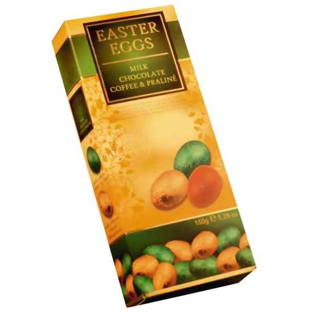 Nuts And Praline Easter Egg: Milk Chocolate Coffee & Praline Filled Mini Easter Eggs