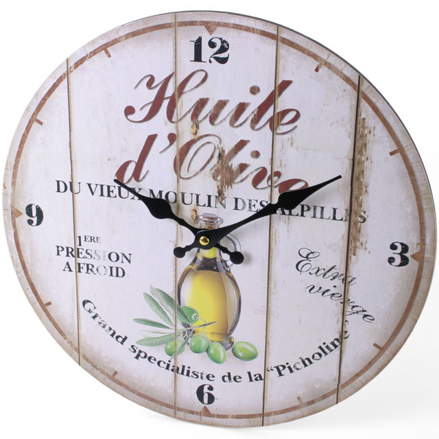 Large Rustic Retro Kitchen Wall Clock 34cm