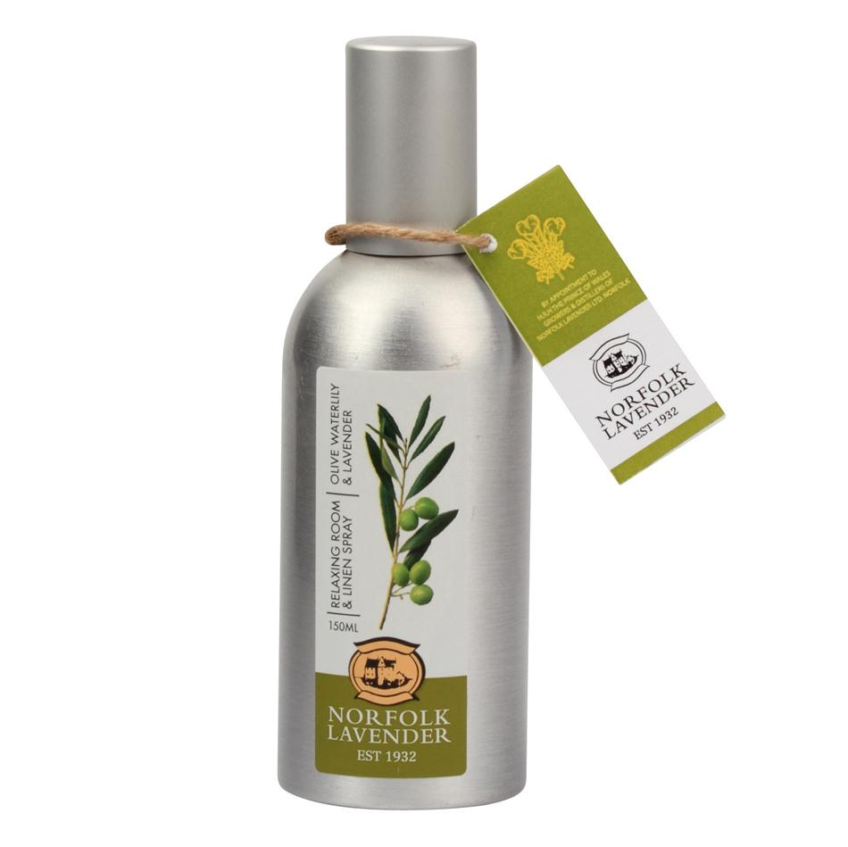 Relaxing Room Spray: Relaxing ROOM & LINEN Fragrance Spray OLIVE WATERLILY