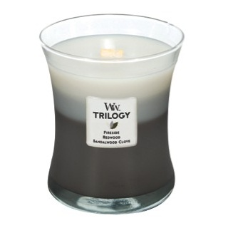 Warm Woods Trilogy Woodwick Candles 10oz Fireside Redwood