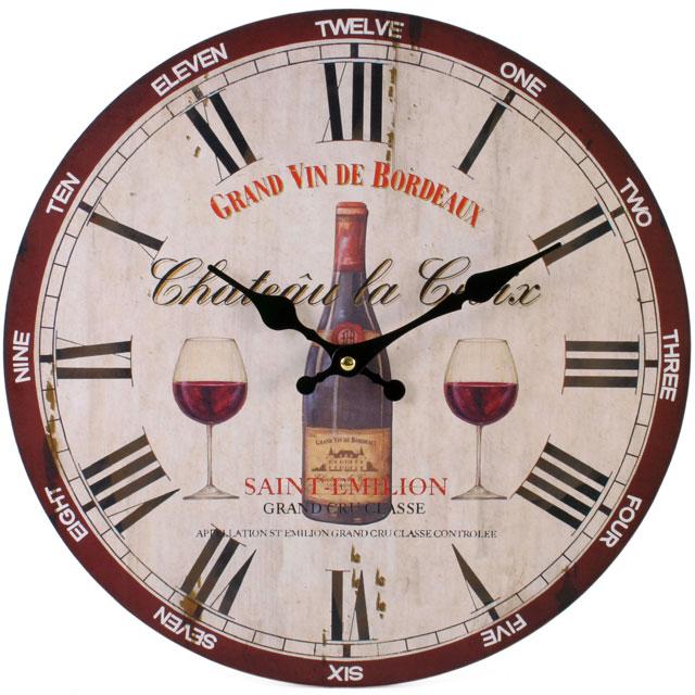 Wine Saint Emilion 32423 Large Rustic Retro Kitchen Wall