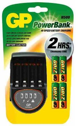 GP H500 PowerBank Hi-Speed Rechargeable Battery Charger